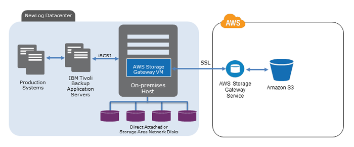 NEWLOG Backup Solution with the AWS Storage Gateway