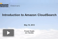 Introduction to Amazon CloudSearch Webinar