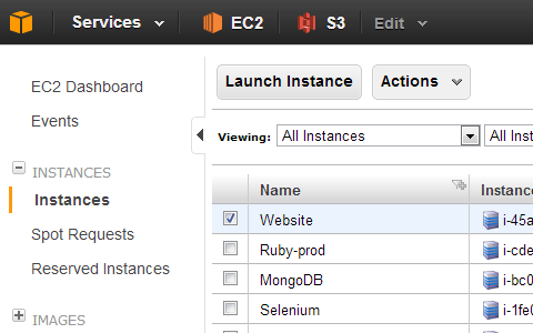 AWS Console Screenshot
